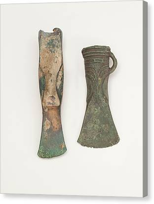 Two Bronze Age Axes Showing Development Canvas Print by Paul D Stewart