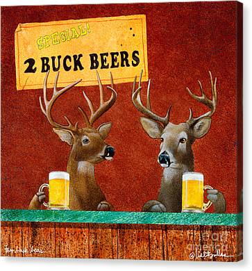 Two Buck Beers... Canvas Print by Will Bullas