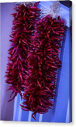 Two Bunches Of Red Peppers Canvas Print