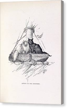 Two Cats Canvas Print by British Library