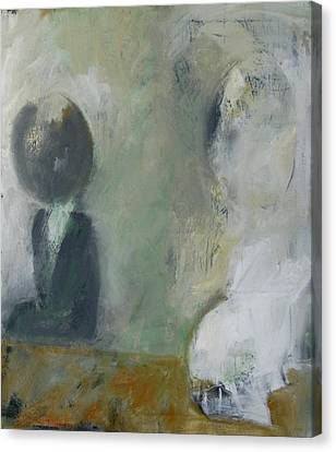 Canvas Print featuring the painting Two Children by Fred Smilde