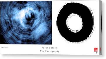 Two Circles Canvas Print by Peter Cutler