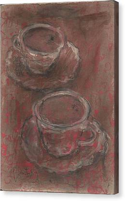 Two Coffees Canvas Print