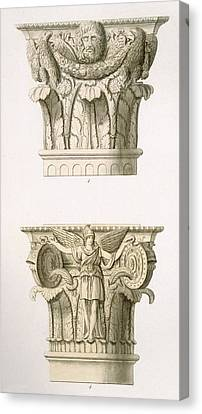 Capital Canvas Print - Two Column Capitals by English School