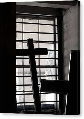 Two Crosses Canvas Print by Art Block Collections
