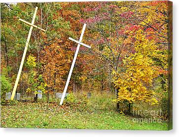 Two Crosses Canvas Print by Thomas R Fletcher
