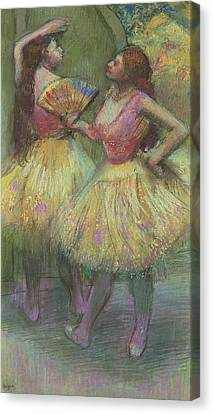 Two Dancers Before Going On Stage Canvas Print