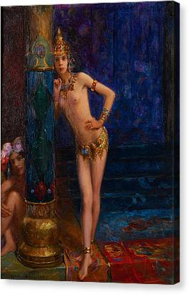 Two Dancers Canvas Print by Gaston Bussiere