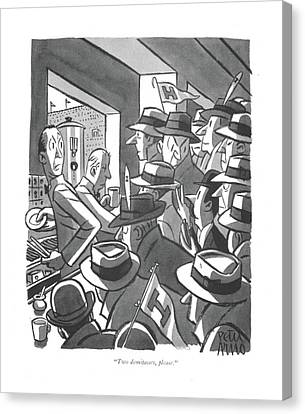 Annoying Canvas Print - Two Demitasses by Peter Arno