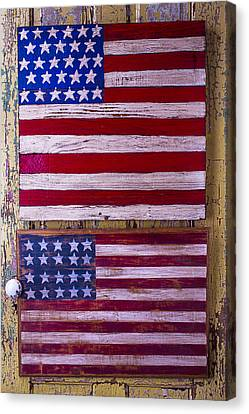 Two Folk Art Flags Canvas Print