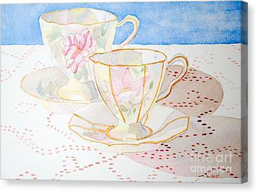 Two For Tea Canvas Print by Laurel Best