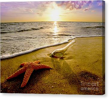 Two Friends On The Beach Canvas Print by Jon Neidert