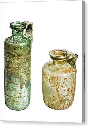 Two Glass Bottles Roman Period Canvas Print