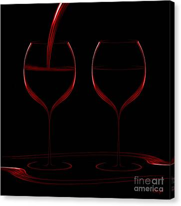 Two Glass Red Canvas Print