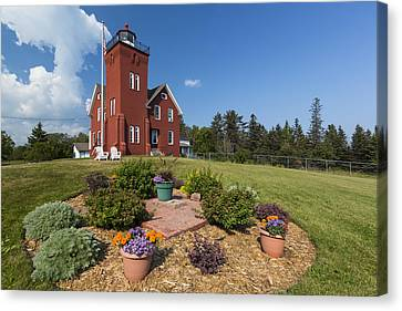 Two Harbors Mn Lighthouse 31 Canvas Print by John Brueske