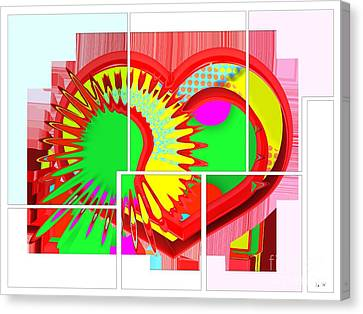 Two Hearts Are Better Than One Canvas Print by Liane Wright