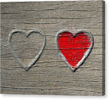 Canvas Print featuring the photograph Two Hearts by Brooke T Ryan