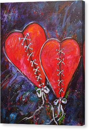 Two Hearts Canvas Print