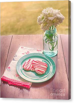 Two Hearts Picnic Canvas Print by Kay Pickens