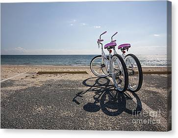 Two If By The Sea Canvas Print by Evelina Kremsdorf