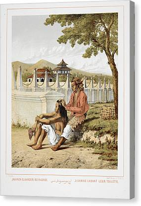 Two Javanese People Canvas Print by British Library