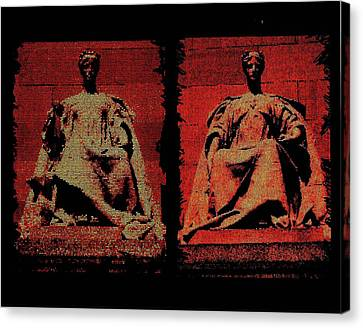 Two Justices Canvas Print by P Dwain Morris