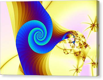 Two Kinds Of Spiral Canvas Print by Mark Eggleston