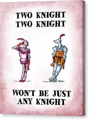Two Knight Two Knight Canvas Print by Mark Armstrong