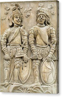 Two Knights - House Sign Canvas Print