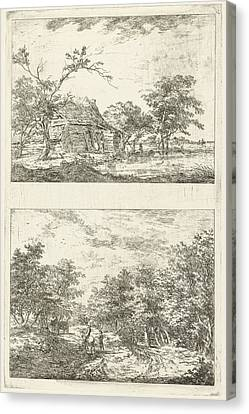 Two Landscapes, Hermanus Van Brussel Canvas Print by Hermanus Van Brussel