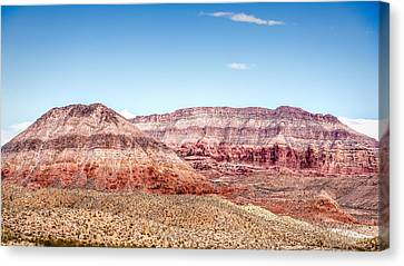 Two Layered Mountains Canvas Print