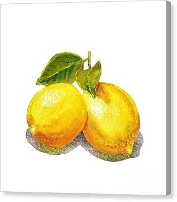 Two Lemons Canvas Print by Irina Sztukowski