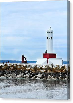 Hovind Canvas Print - Two Lighthouses by Scott Hovind