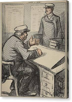 Two Maritime Gentlemen Canvas Print by Eugene Cadel