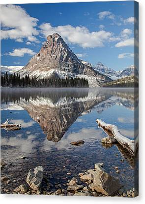 Canvas Print featuring the photograph Two Medicine Morning by Jack Bell