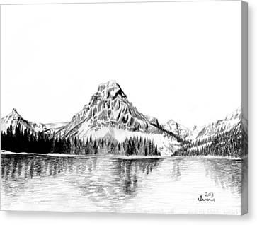 Two Medicine Mountain Canvas Print by Kayleigh Semeniuk