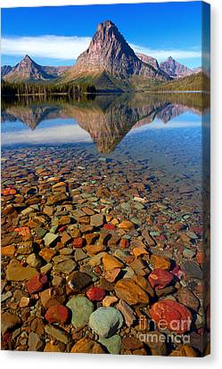 Two Medicine Reflection Canvas Print by Aaron Whittemore