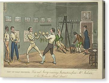 Two Men Boxing Canvas Print by British Library