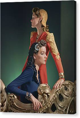 Two Models Wearing Evening Gowns Canvas Print by Horst P. Horst