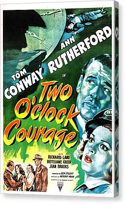 Two Oclock Courage, Us Poster, Tom Canvas Print by Everett