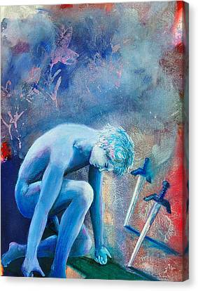 Two Of Swords Canvas Print