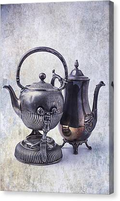 Two Old Teapots Canvas Print by Garry Gay