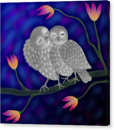 Two Owls Canvas Print