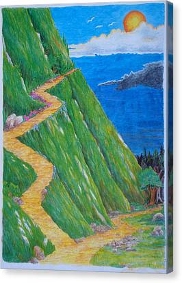 Canvas Print featuring the painting Two Paths by Matt Konar