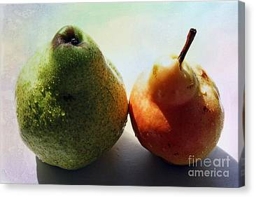 Two Pears Canvas Print