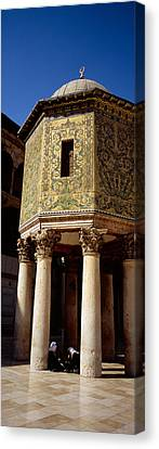 Two People Sitting In A Mosque, Umayyad Canvas Print by Panoramic Images