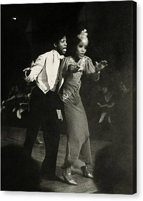 Two Performs Singing And Dancing On Stage Canvas Print by Remie Lohse