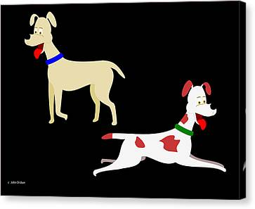 Two Pet Dogs Canvas Print