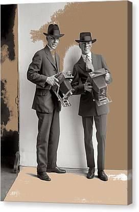 Two Photographers Washington D.c. Harris And Ewing Glass Negative C. 1919-2014 Canvas Print by David Lee Guss