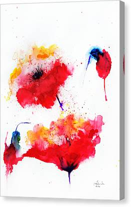 Two Red Flowers Canvas Print by Isabel Salvador